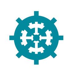 single gear icon image vector image