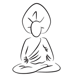 Sitting Buddha vector image vector image