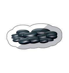 spa dark gray many volcanic rocks vector image