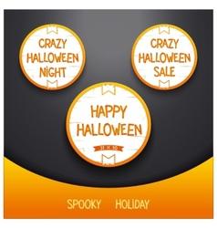 Spooky halloween holiday vector