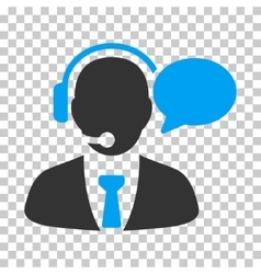 Support manager message icon vector