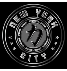 T shirt New York Character Power Force vector image vector image