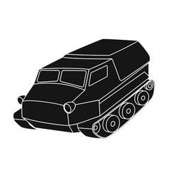 tank for the marshes caterpillar transport of vector image vector image