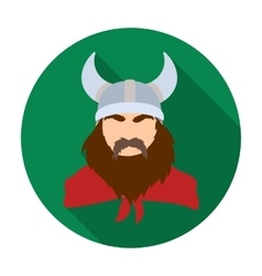 Viking icon in flat style isolated on white vector image