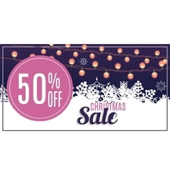 Christmas sale discount voucher banner background vector