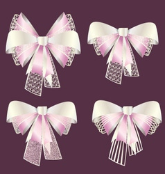 Bows set vector
