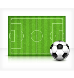 Football playing field vector