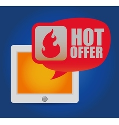 Hot offer online tablet shop vector