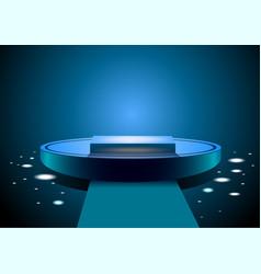 Blue podium vector image