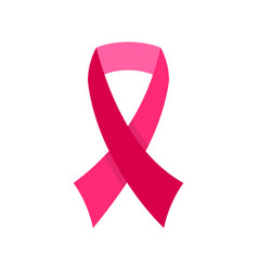 breast cancer awareness ribbon icon flat style vector image