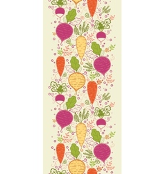 Root vegetables vertical seamless pattern vector