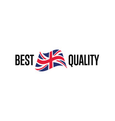 Best quality isolated label for england products vector