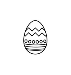 Easter egg line icon religion holiday elements vector