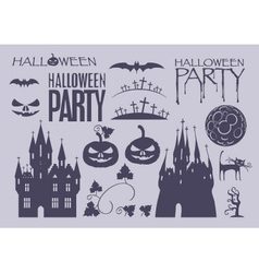 Elements on halloween vector