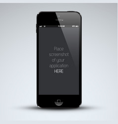 Modern mobile phone vector