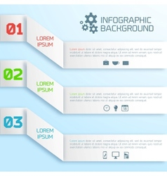 Abstract paper infographic background vector
