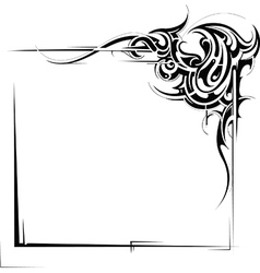 Tribal frame vector