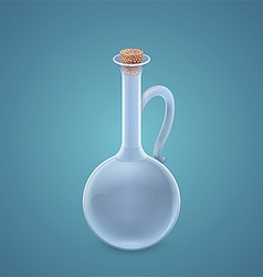 Jug with cork vector image