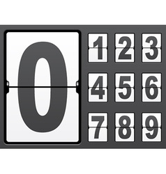 Number of mechanical panel vector