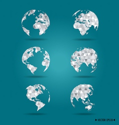 Set of modern globes vector