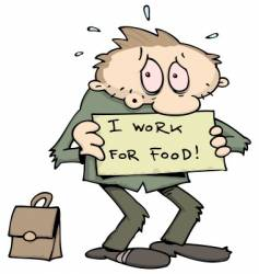 unemployed man vector image