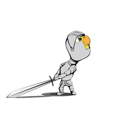 Chick knight vector image