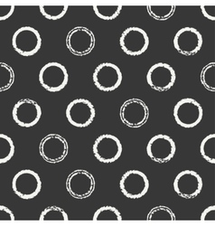 Hand drawn seamless pattern with black grunge vector
