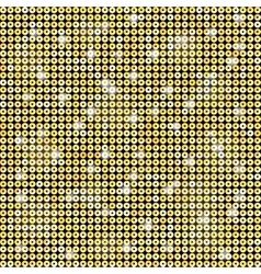 Background with shiny gold sequins vector