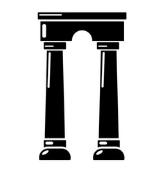 Archway egypt icon simple black style vector