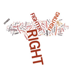 Are you a right fighter text background word vector