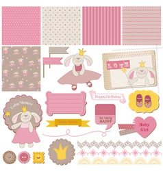 Baby Bunny Girl Set vector image vector image