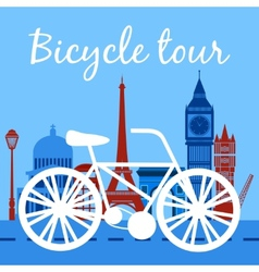 Bicycle tour poster vector