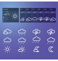 Blue weather widget vector image