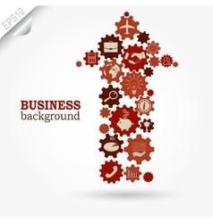 Business design Gears in Arrow vector image vector image