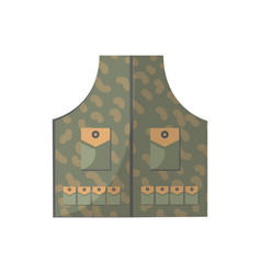 Camouflage vest isolated icon vector