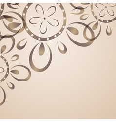 Card design with flower pattern vector image vector image