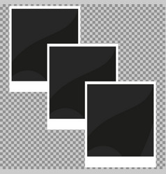 Collection of blank retro photo frames vector