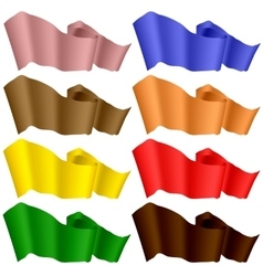 Colorful Ribbons Isolated on White Background vector image vector image