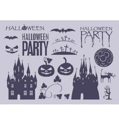 elements on Halloween vector image vector image