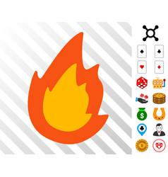 Fire icon with bonus vector