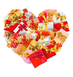 Gifts heart vector