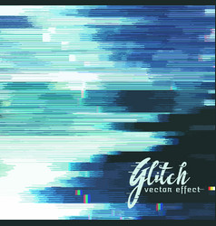 Glitch background of distorted image vector