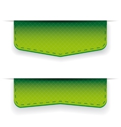 Green ribbon set vector image