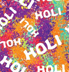 Holi celebration Holi ornament background Holi vector image
