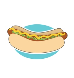 Hot Dog and Relish vector image vector image