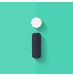 Information web icon faq symbol flat design vector