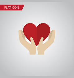 Isolated care flat icon save love element vector