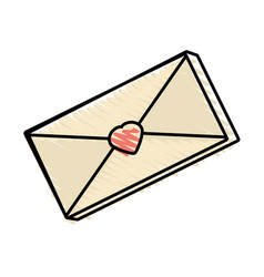 Message mail romantic drawing vector