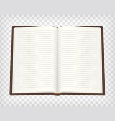 notebook blank mockup vector image vector image