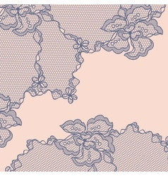 Old lace background ornamental flowers vector image
